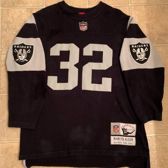 timeless design cd7aa d31aa RARE Vintage Marcus Allen Throwback Raider Jersey